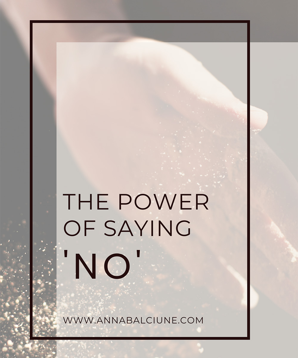 The power of saying 'NO'